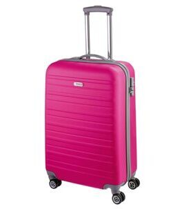 Travel Line 9400, Trolley en ABS, rose vif