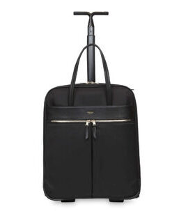 "Mayfair Burlington 15"" Laptop bag with wheels in black/gold"