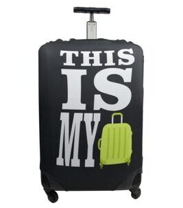 "Housse de valise ""This is my"", noir,"