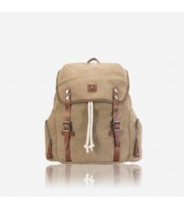 Canvas - Backpack in Khaki
