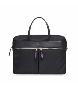 "Mayfair Hanover 14"" Porte-documents en noir et or"