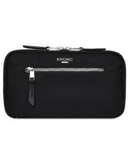Mayfair Travel Wallet in Schwarz/Silber