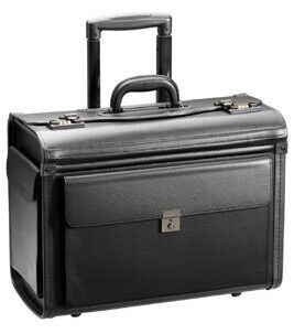 Business & Travel, valise de pilote en cuir synthétique, noir